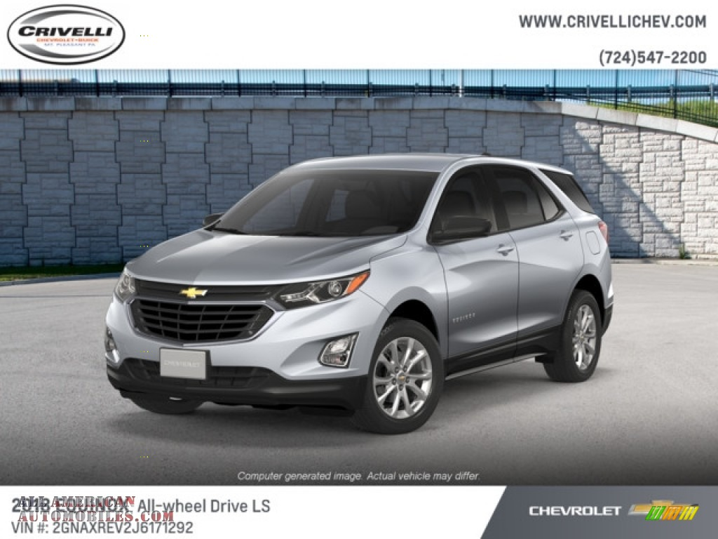 2018 Equinox LS AWD - Silver Ice Metallic / Medium Ash Gray photo #1