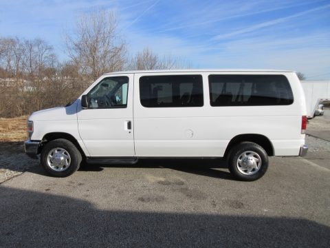 Oxford White 2010 Ford E Series Van E350 XLT Passenger