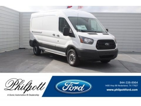 Oxford White 2018 Ford Transit Van 250 HR Long