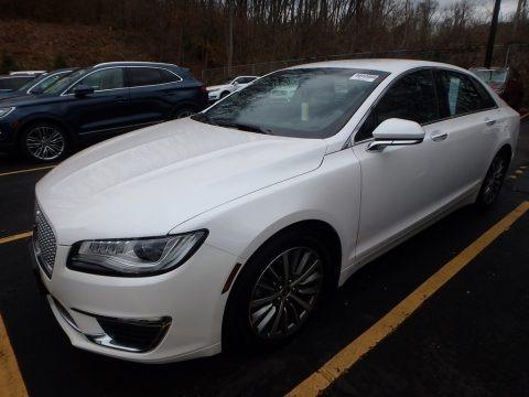 White Platinum 2017 Lincoln MKZ Premier