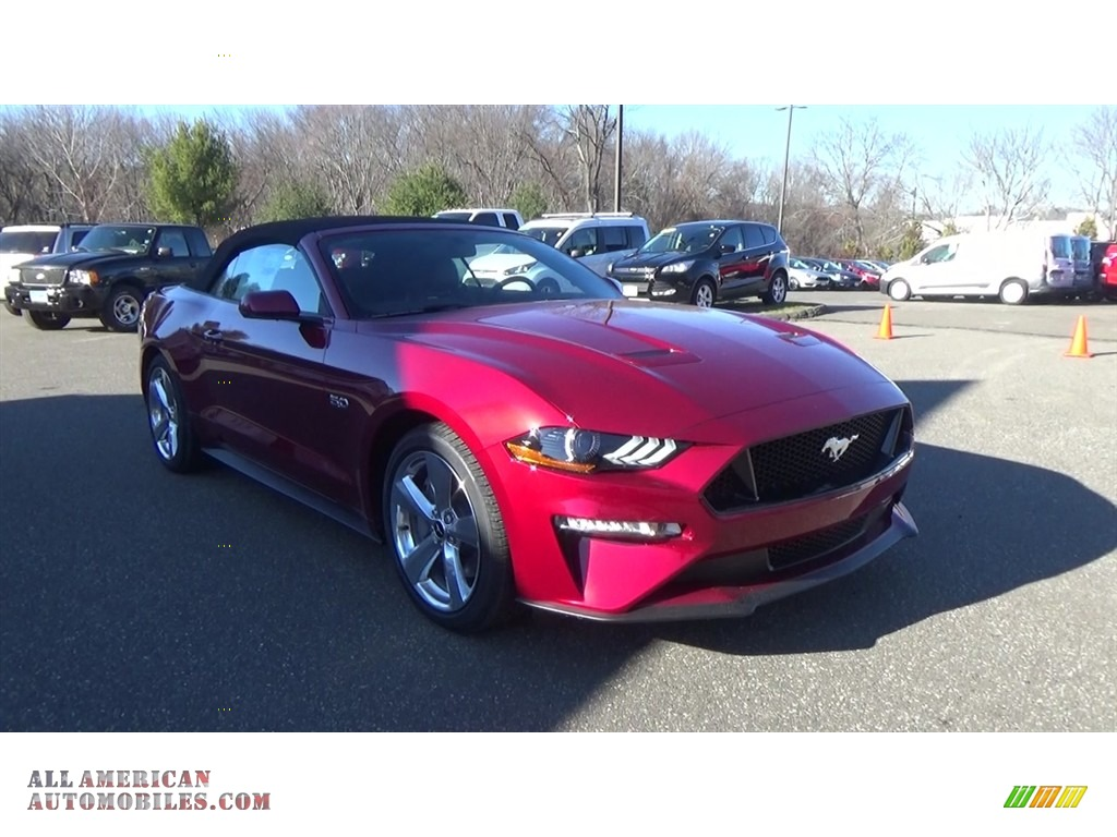 2018 Ford Mustang Gt Premium Convertible In Ruby Red For
