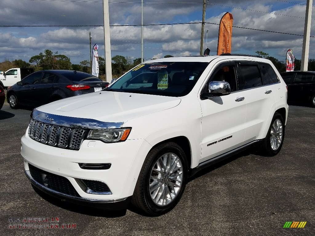 Bright White / Indigo/Ski Gray Jeep Grand Cherokee Summit 4x4