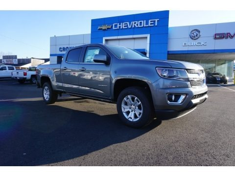 Satin Steel Metallic 2018 Chevrolet Colorado LT Crew Cab