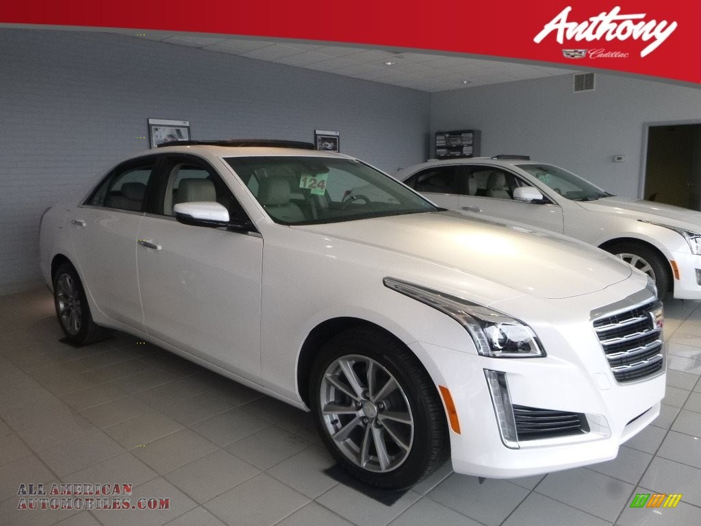 2018 CTS Luxury AWD - Crystal White Tricoat / Light Platinum/Jet Black Accents photo #1