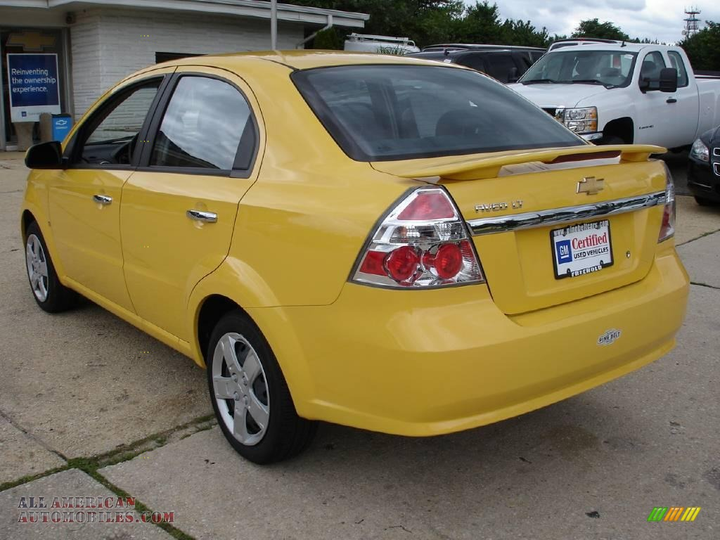 2009 Chevrolet Aveo Lt Sedan In Summer Yellow Photo 5