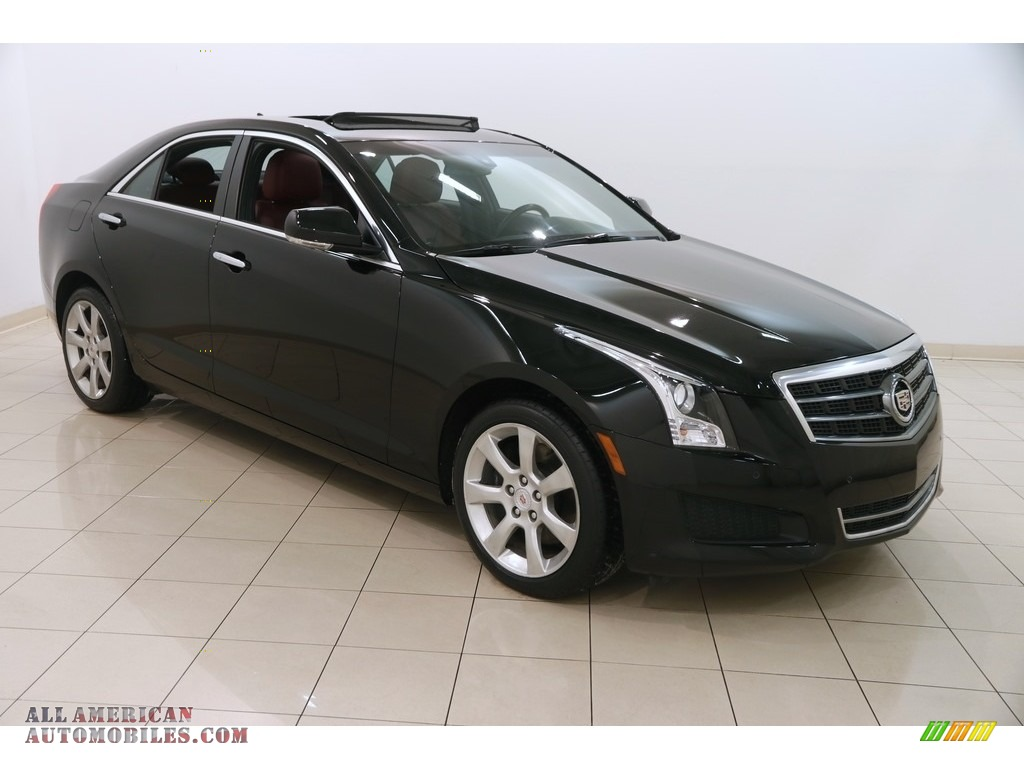 2014 ATS 2.0L Turbo AWD - Black Raven / Morello Red/Jet Black photo #1