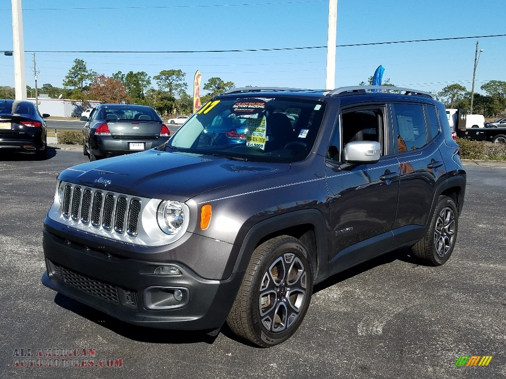 Granite Crystal Metallic / Black Jeep Renegade Limited
