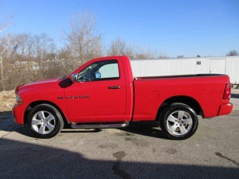 Flame Red 2012 Dodge Ram 1500 ST Regular Cab 4x4
