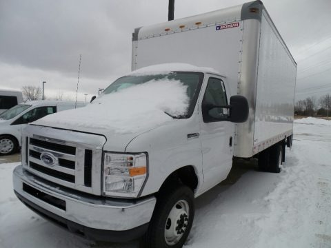 Oxford White 2018 Ford E Series Cutaway E450 Commercial Moving Truck
