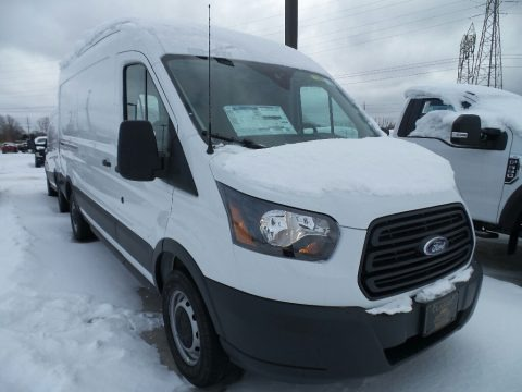 Oxford White 2018 Ford Transit Van 250 MR Long