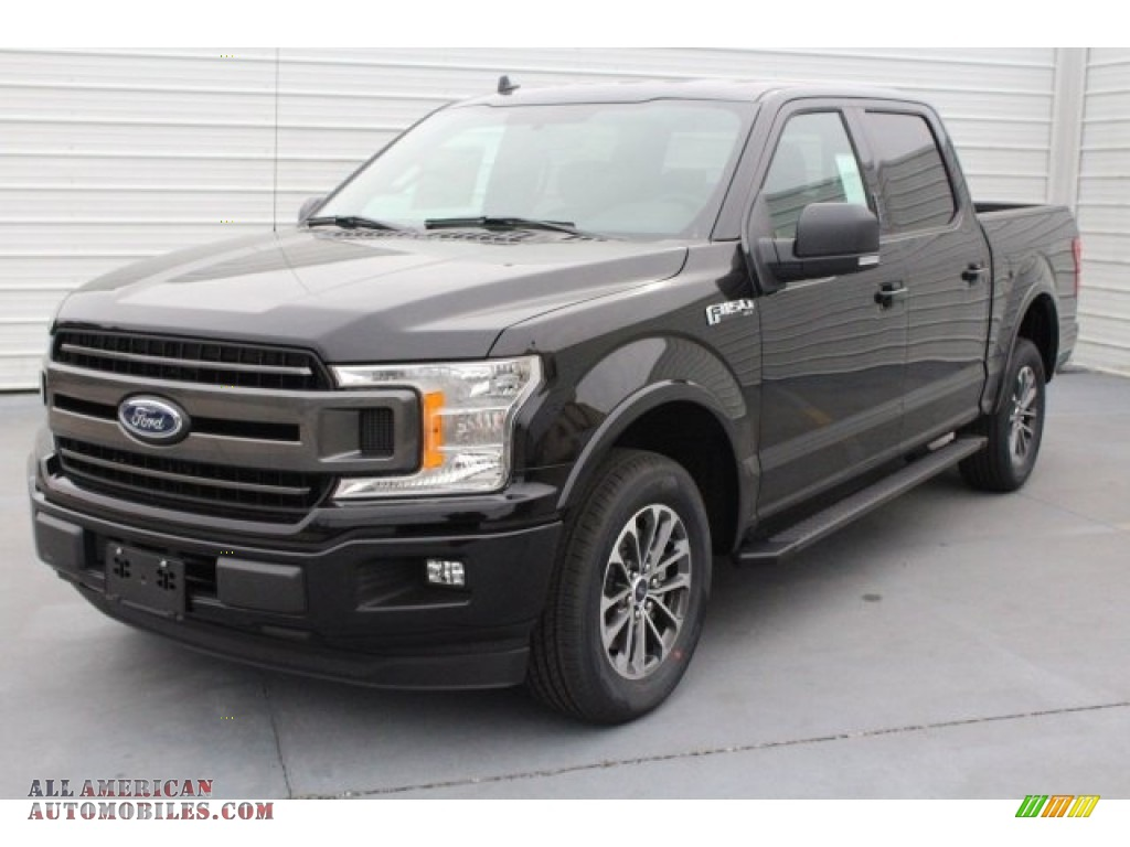 2018 F150 XLT SuperCrew 4x4 - Shadow Black / Black photo #3
