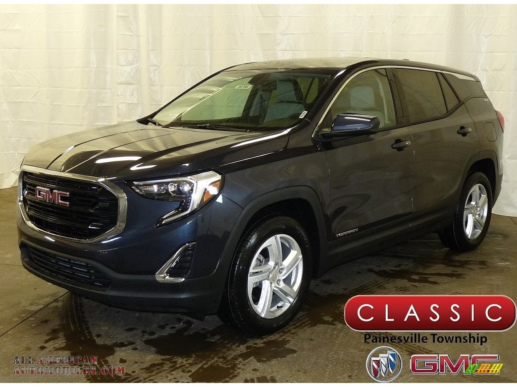 Blue Steel Metallic / ­Jet Black GMC Terrain SLE AWD