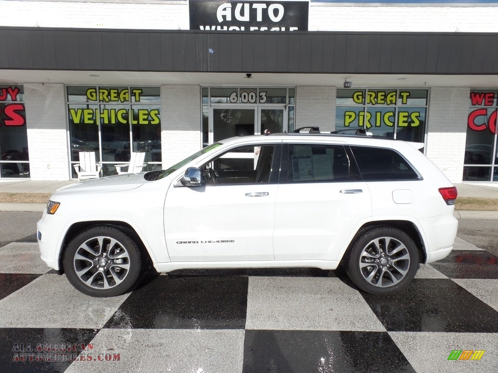Bright White / Brown/Light Frost Beige Jeep Grand Cherokee Overland 4x4