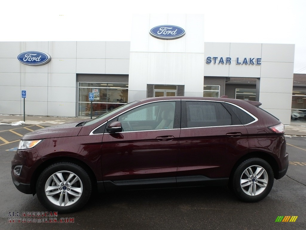 Burgundy Velvet Metallic / Dune Ford Edge SEL