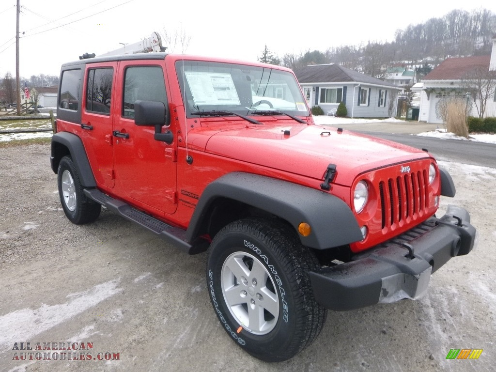 2018 Wrangler Unlimited Sport 4x4 - Firecracker Red / Black photo #7