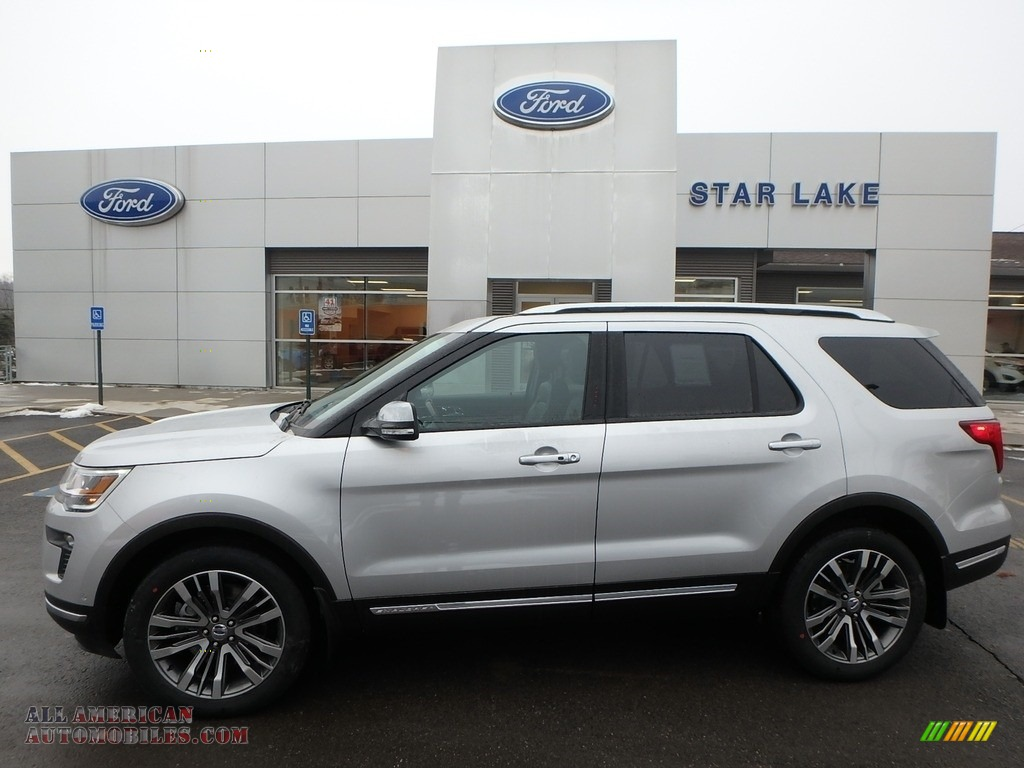 2018 Explorer Platinum 4WD - Ingot Silver / Ebony Black photo #1