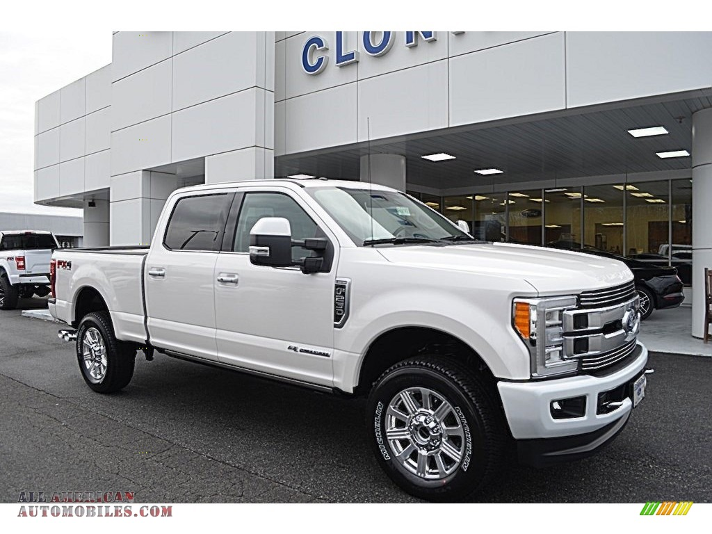 2018 Ford F250 Super Duty Limited Crew Cab 4x4 In White