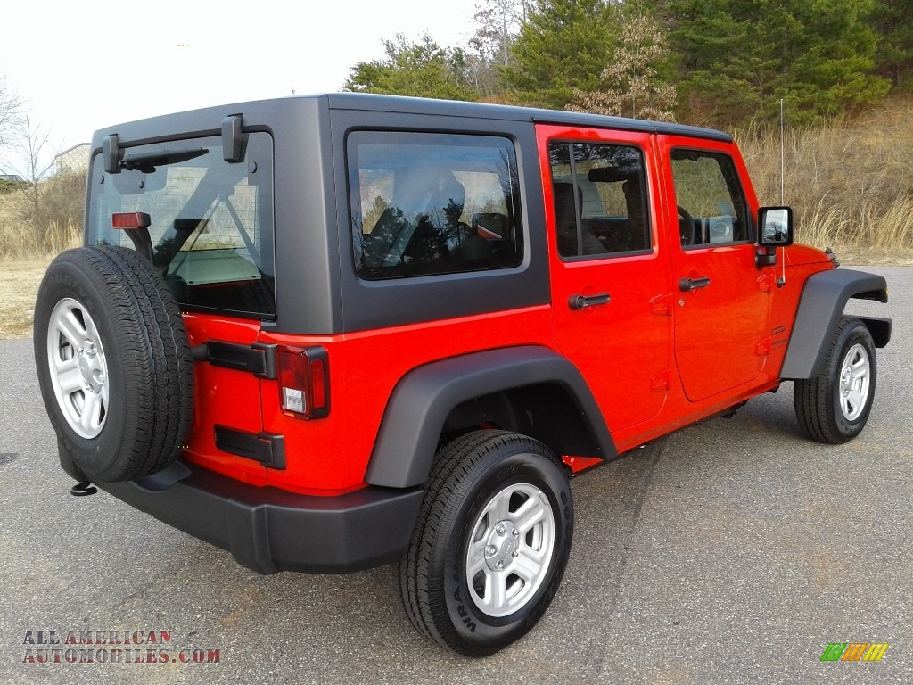 2018 Wrangler Unlimited Sport 4x4 RHD - Firecracker Red / Black photo #8