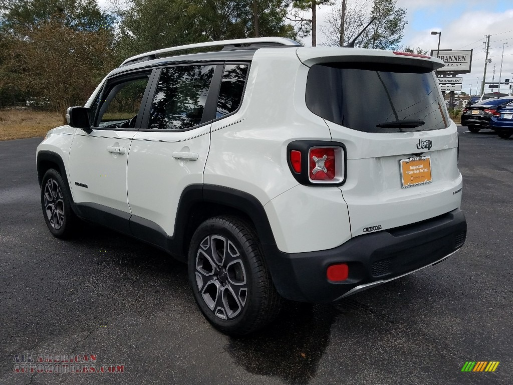 2017 Renegade Limited - Alpine White / Black photo #3