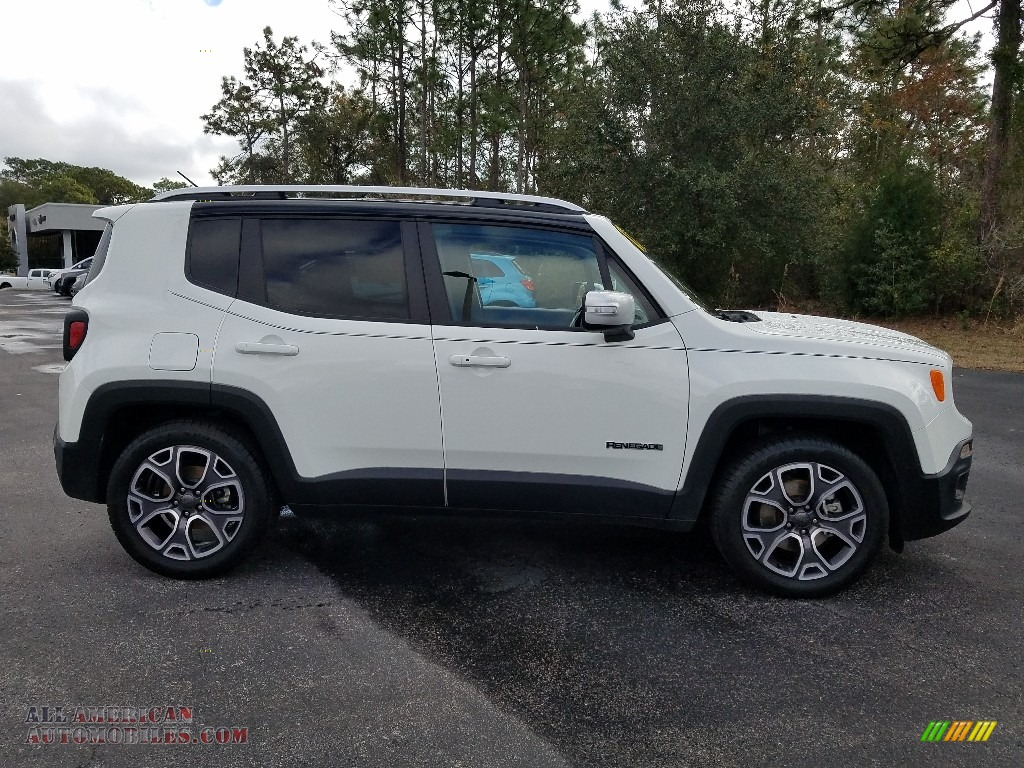 2017 Renegade Limited - Alpine White / Black photo #6