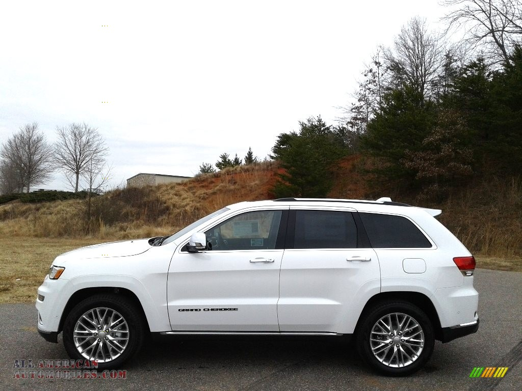 Bright White / Black Jeep Grand Cherokee Summit 4x4