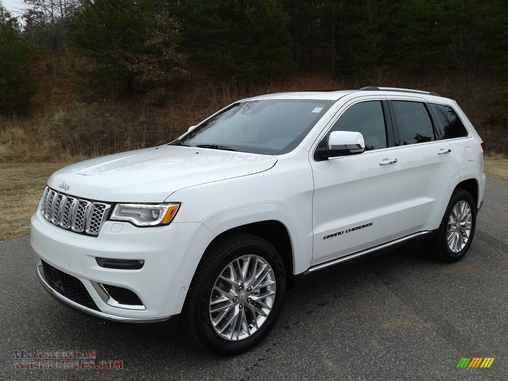 2018 Grand Cherokee Summit 4x4 - Bright White / Black photo #2
