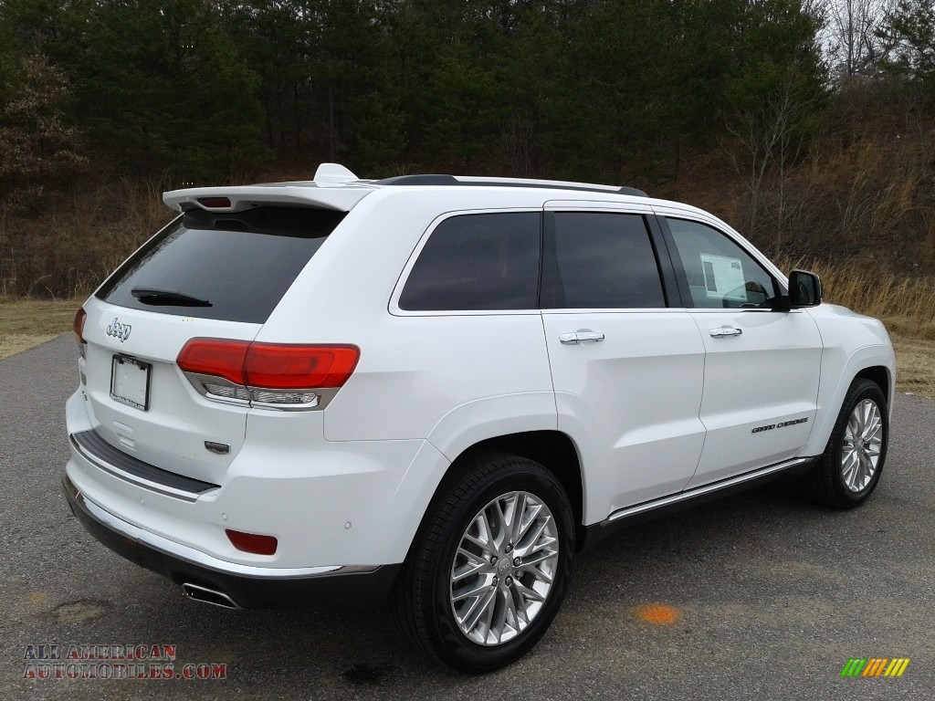 2018 Grand Cherokee Summit 4x4 - Bright White / Black photo #6