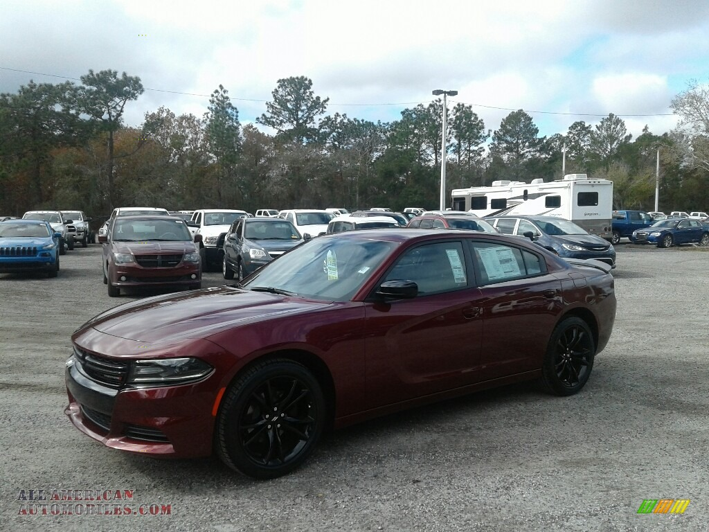2018 Charger SXT - Octane Red Pearl / Black photo #1