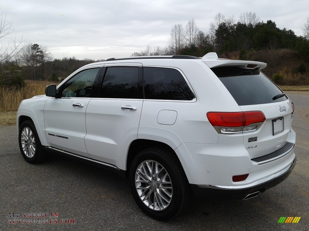 2018 Grand Cherokee Summit 4x4 - Bright White / Black photo #8