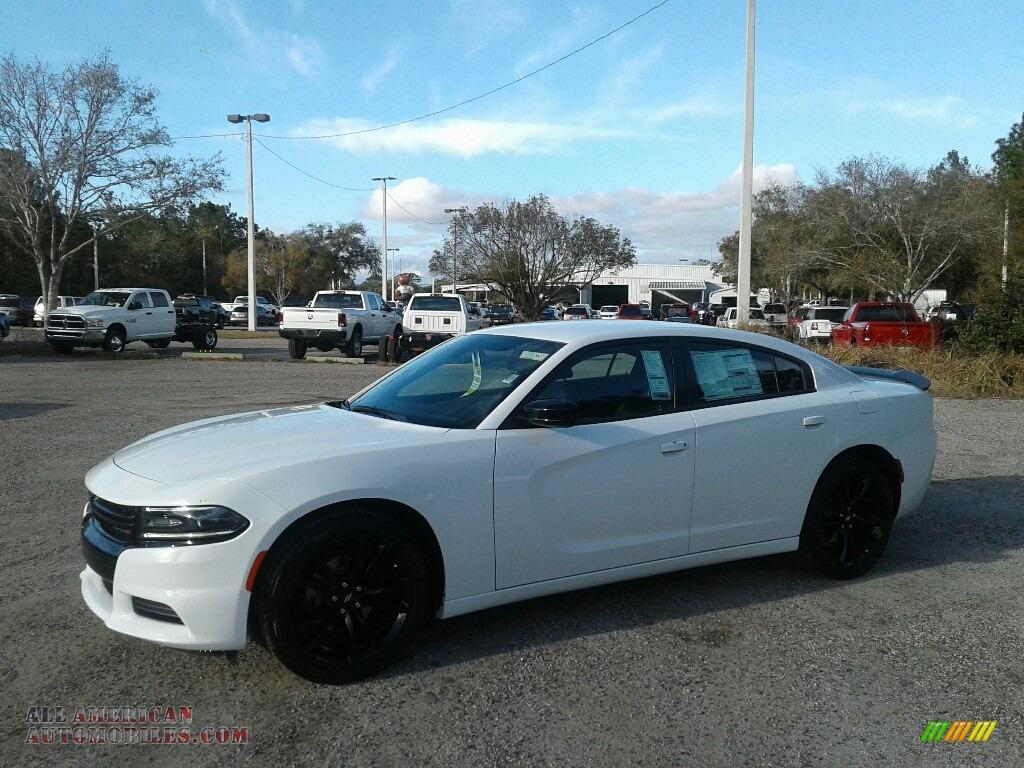 2018 Charger SXT - White Knuckle / Black photo #1