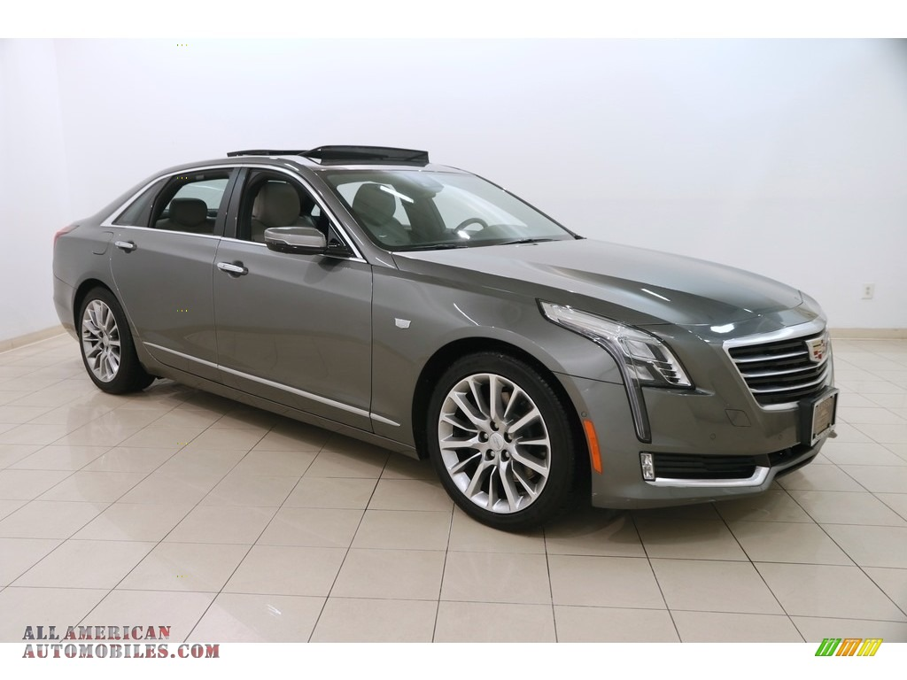 Moonstone Metallic / Light Platinum/Jet Black Cadillac CT6 3.6 Luxury AWD Sedan