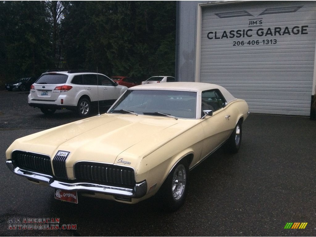 1970 Cougar Hardtop - Light Ivy Yellow Metallic / Medium Brown photo #1