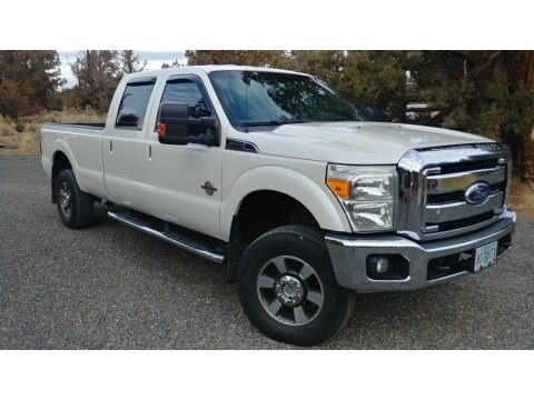 Oxford White 2011 Ford F350 Super Duty Lariat Crew Cab 4x4