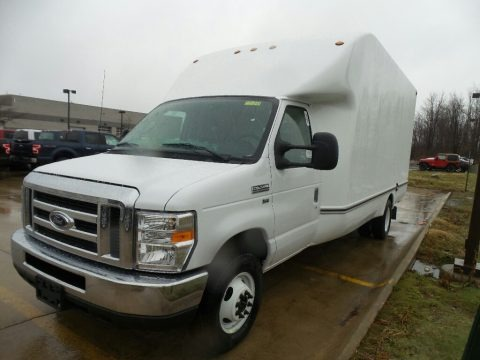 Oxford White 2018 Ford E Series Cutaway E350 Commercial Moving Truck