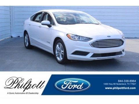 White Platinum 2018 Ford Fusion Hybrid SE