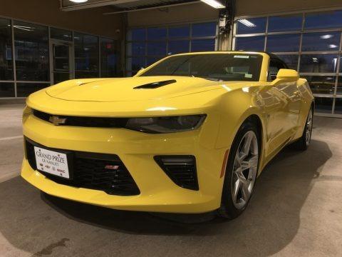 Bright Yellow 2017 Chevrolet Camaro SS Convertible