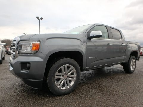 Satin Steel Metallic 2018 GMC Canyon SLT Crew Cab 4x4