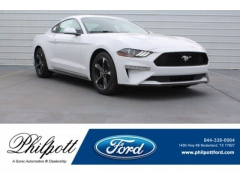 Oxford White 2018 Ford Mustang EcoBoost Fastback