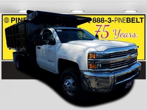 Summit White 2018 Chevrolet Silverado 3500HD Work Truck Regular Cab 4x4 Dump Truck