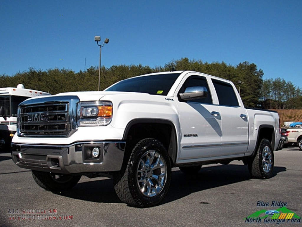 2014 gmc sierra 1500 slt crew cab 4x4 in white diamond tricoat for sale 424739 all american. Black Bedroom Furniture Sets. Home Design Ideas
