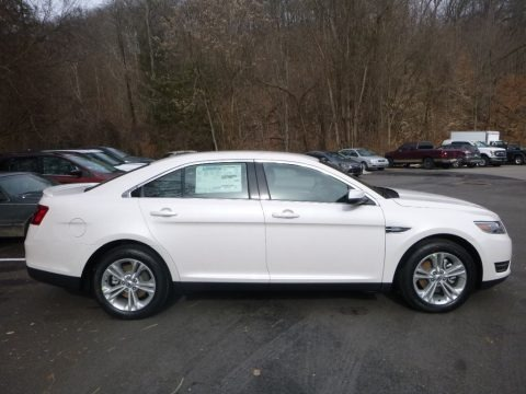 White Platinum 2018 Ford Taurus SEL AWD