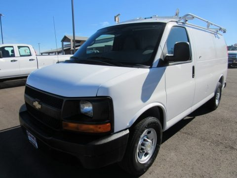 Summit White 2010 Chevrolet Express 2500 Work Van