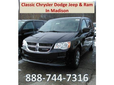 Black Onyx Crystal Pearl 2018 Dodge Grand Caravan SE