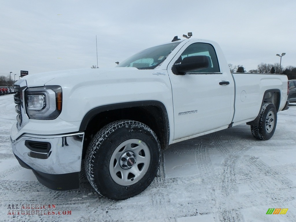 2018 Sierra 1500 Regular Cab 4WD - Summit White / Dark Ash/Jet Black photo #1