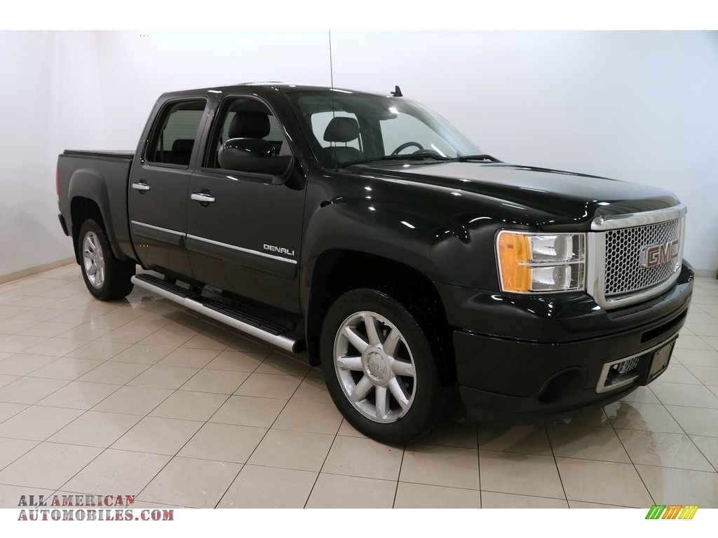 2013 Sierra 1500 Denali Crew Cab AWD - Onyx Black / Ebony photo #1