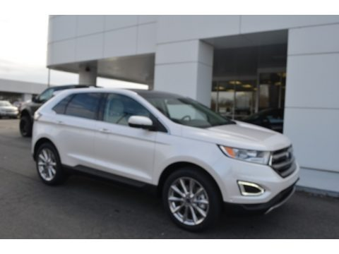 White Platinum 2018 Ford Edge Titanium