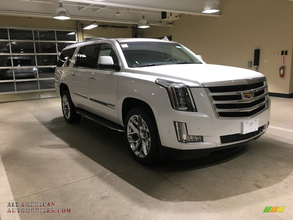 2018 Escalade ESV Luxury 4WD - Crystal White Tricoat / Kona Brown/Jet Black photo #1