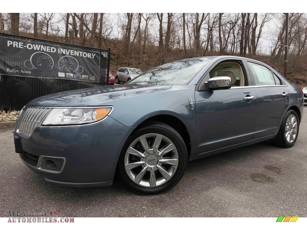 Steel Blue Metallic / Cashmere Lincoln MKZ AWD