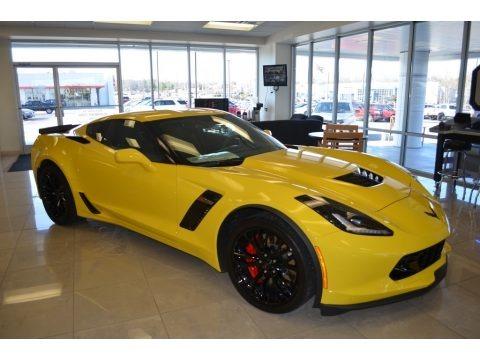 Corvette Racing Yellow Tintcoat 2016 Chevrolet Corvette Z06 Coupe