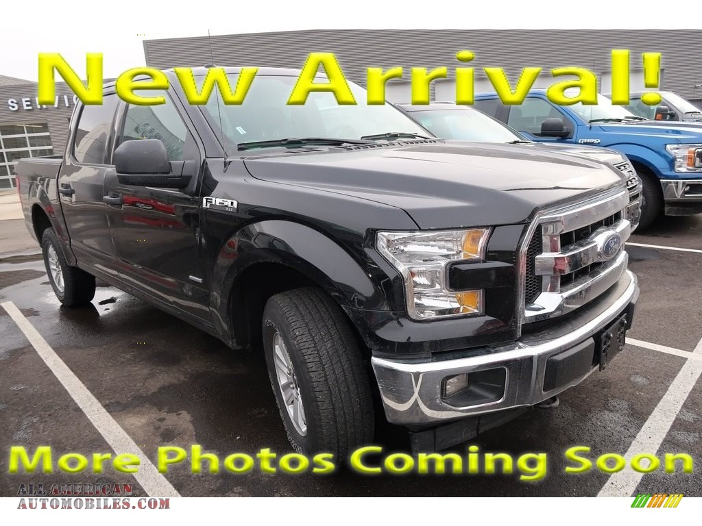 2017 F150 XLT SuperCrew 4x4 - Shadow Black / Earth Gray photo #1